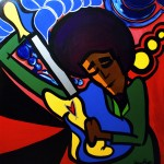 "Hendrix 30x30"" 2008 - Prints Available"