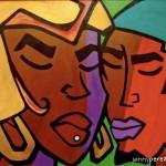 "ESSENCE OF A WOMAN - 2008 - 24"" x 30"" - Acrylic on canvas"