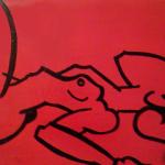 """Love vs Lust - 2009 - 24×48"""" - Enamel & Oil on Canvas"""
